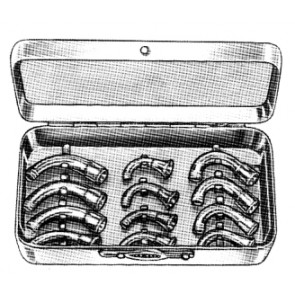 Magill Nasal Connection set/12 in s/s case