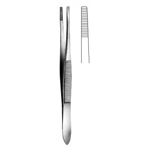 Stille Dressing Forceps serrated Swedish patt. 15cm