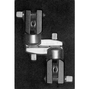 Universal Joint Clamp for 4 pins and 2 Connecting Rods / diagonal